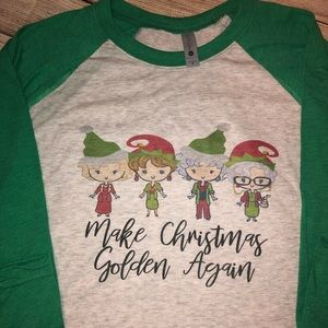 Golden Girls Christmas Raglan Tee